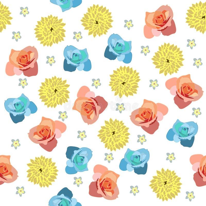 Teste padrão bonito na flor diferente pequena ilustração do vetor