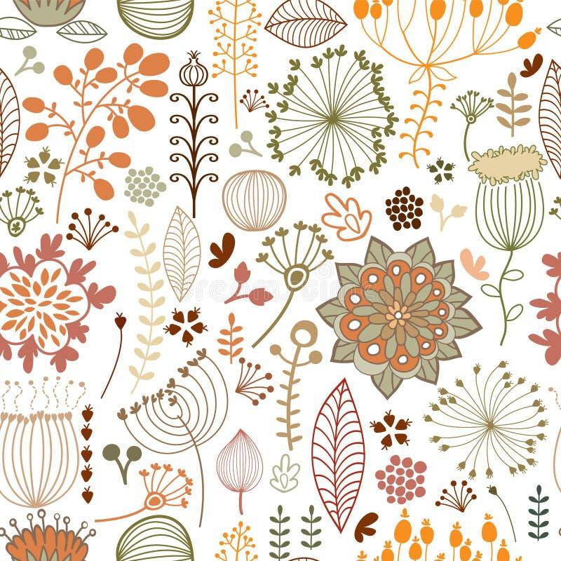 Teste padrão botânico sem emenda ilustração do vetor