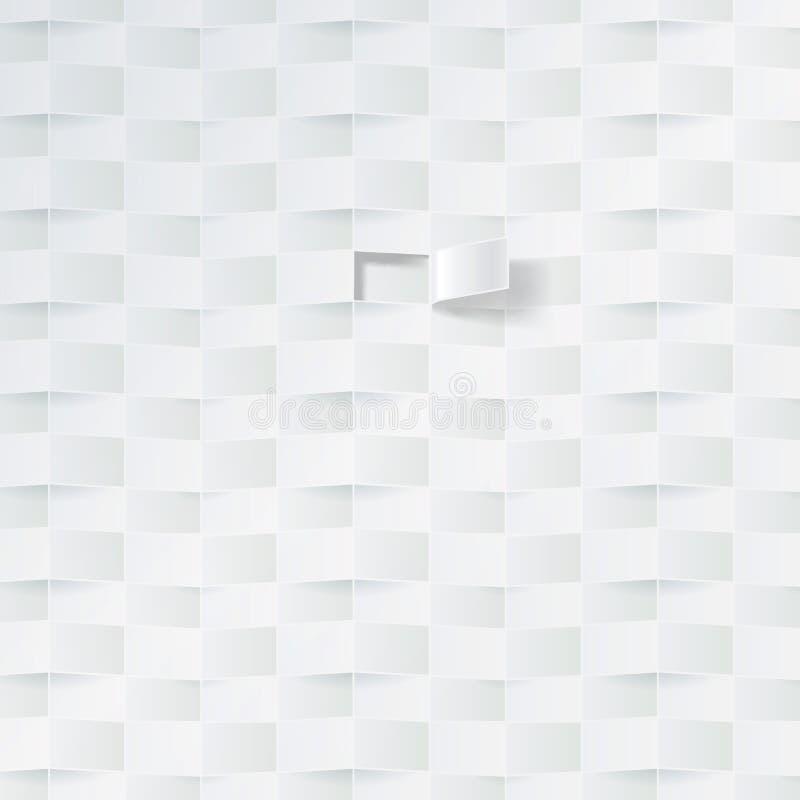 Teste padrão branco da cesta ilustração do vetor