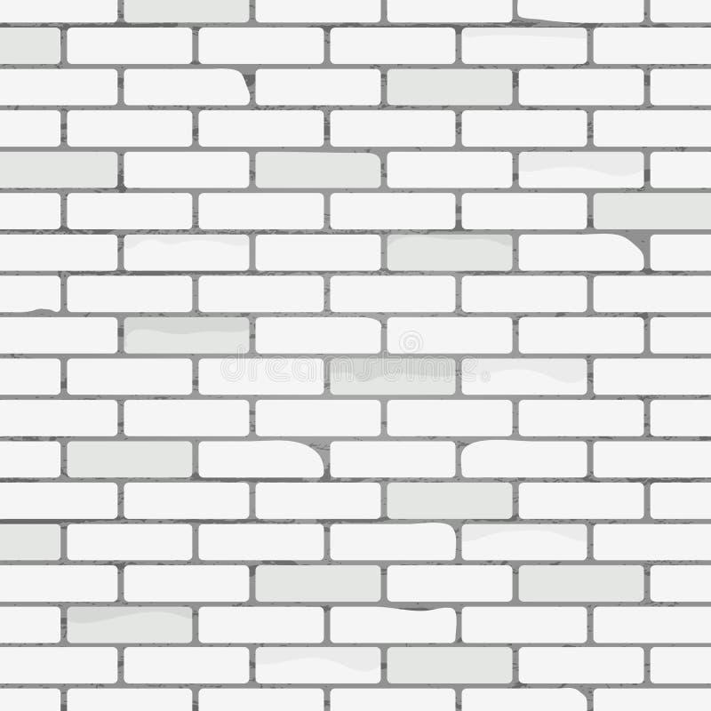 Teste padrão branco da textura da parede de tijolo Fundo abstrato com tijolo velho, textura de pedra Quadro textured de prata ilustração do vetor