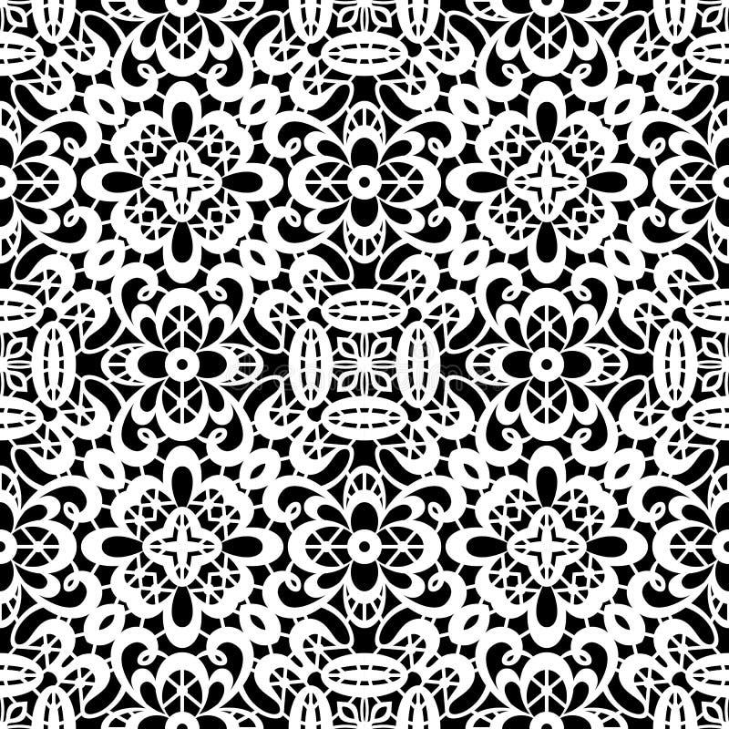 Teste padrão branco do laço ilustração stock