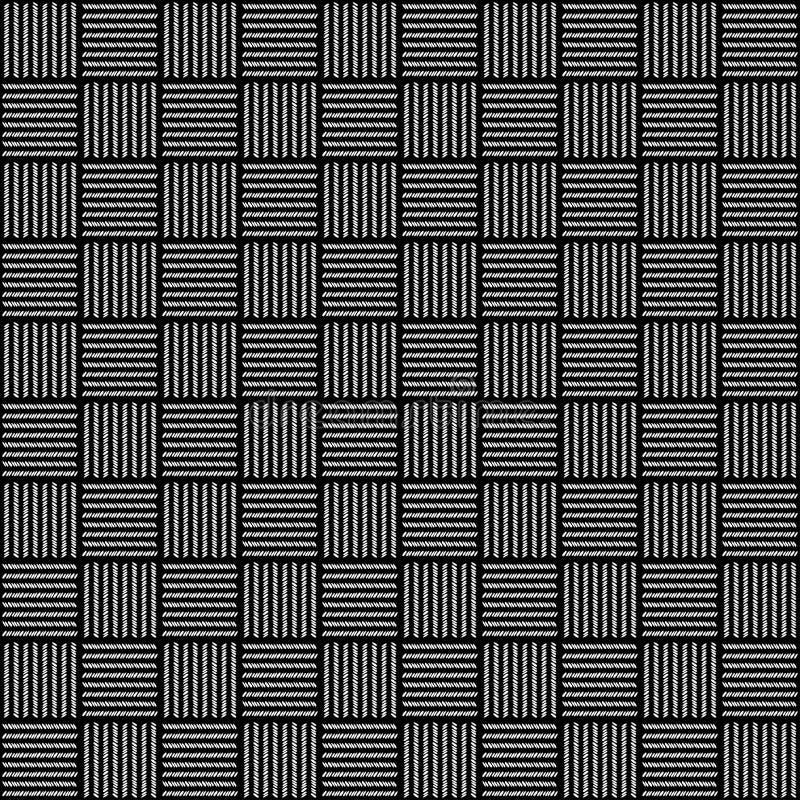 Teste padr?o branco e preto da textura do material de mat?ria t?xtil da tela para o fundo real?stico do papel de parede do projet ilustração royalty free