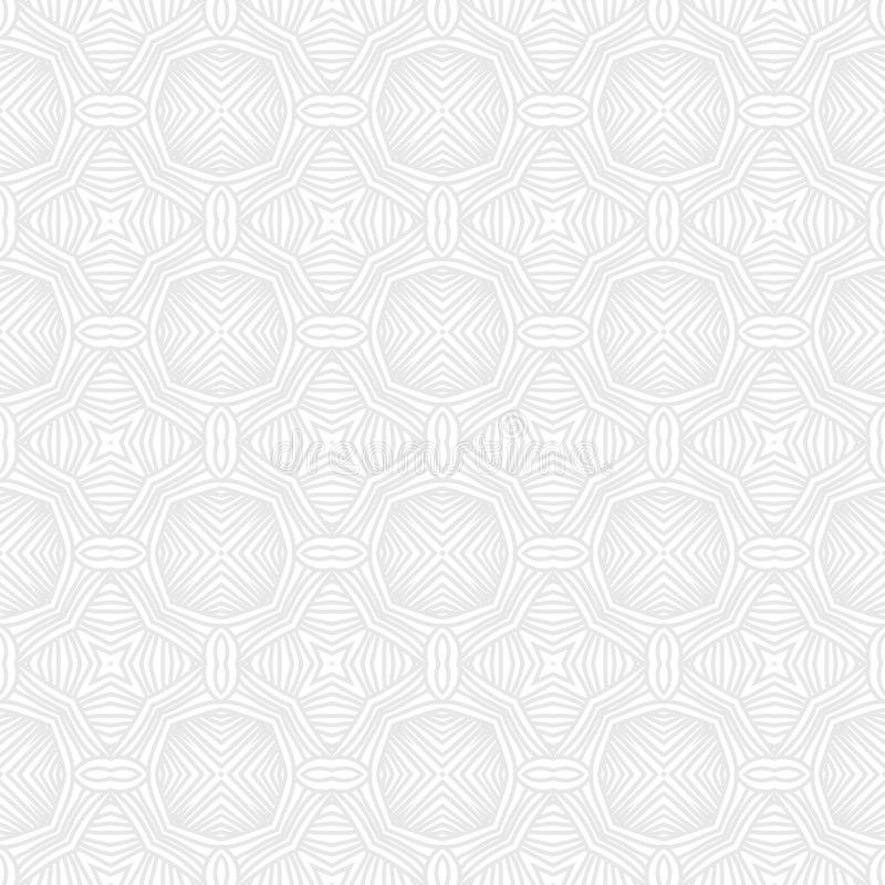 Teste padrão branco geométrico do vetor de Seanless ilustração royalty free