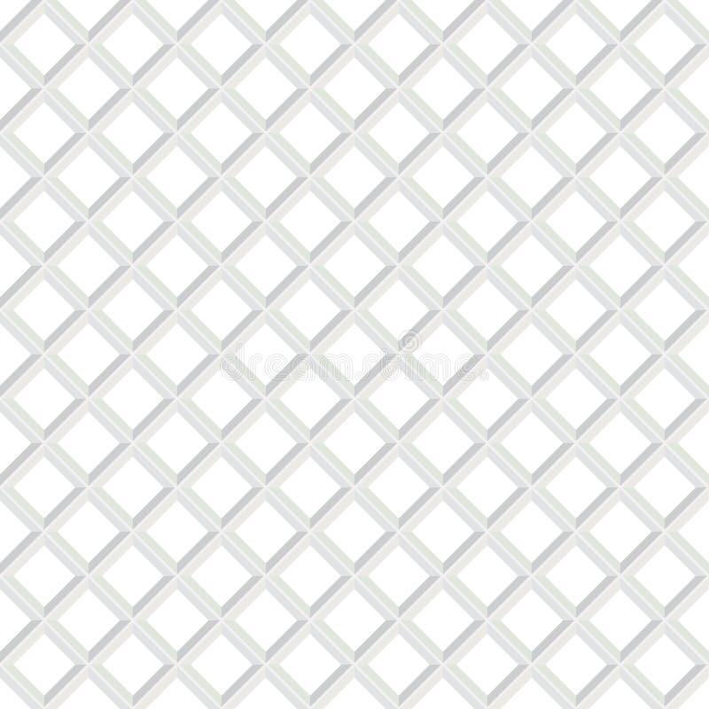 Teste padrão branco sem emenda geométrico de Abstarct Textura Checkered ilustração do vetor