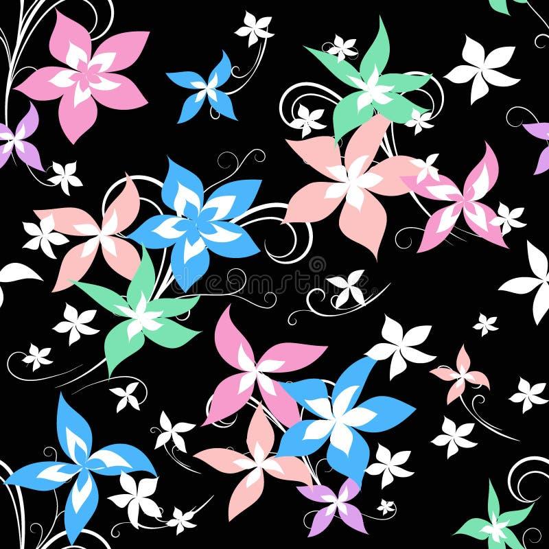 Teste padrão brilhante da flor ilustração stock