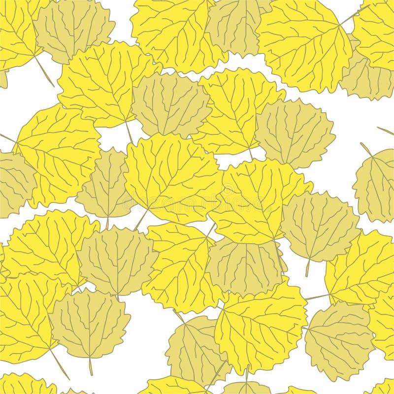 Teste padrão brilhante do outono com folhas do asprin fotos de stock royalty free