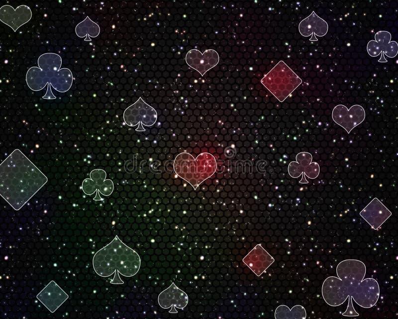 Teste padrão brilhante escuro do casino do pôquer ilustração do vetor