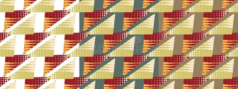 Teste padrão brilhante feito dos triângulos ilustração royalty free