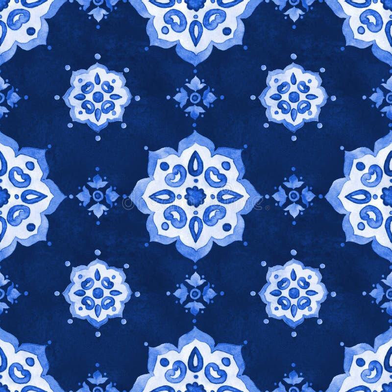 Teste padrão a céu aberto filigrana azul delicado do laço fotos de stock