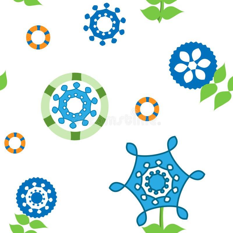 Teste padrão calidoscópico colorido floral sem emenda para a matéria têxtil e o fundo do projeto ilustração do vetor