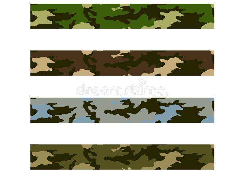Teste padrão camuflar 4 ilustração do vetor
