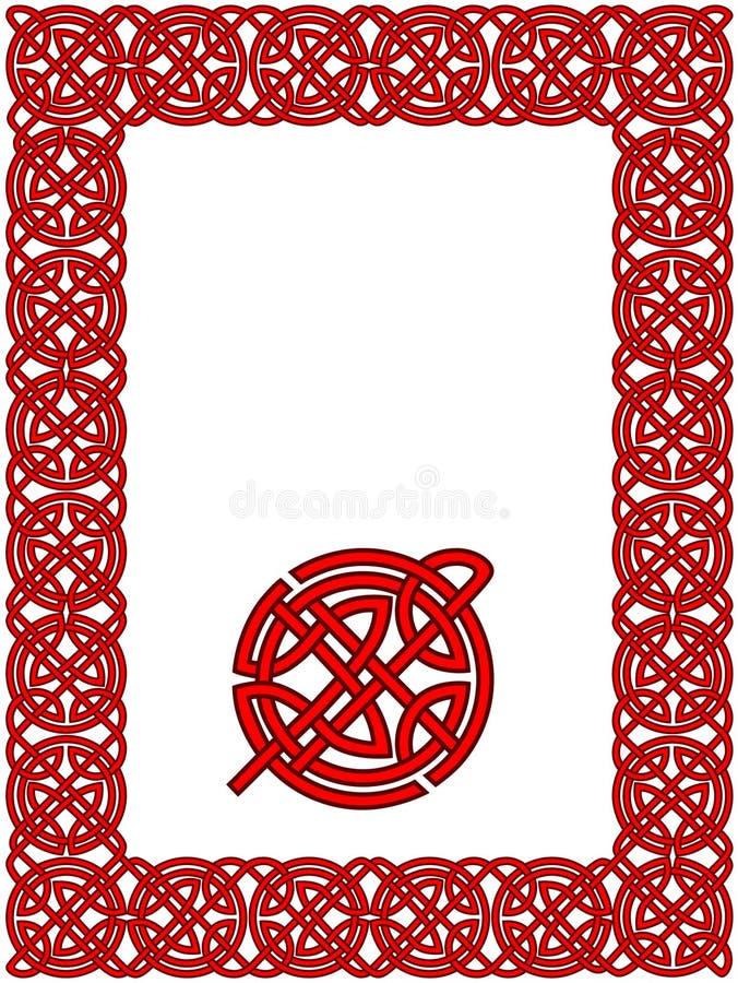 Teste padrão celta do frame ilustração do vetor