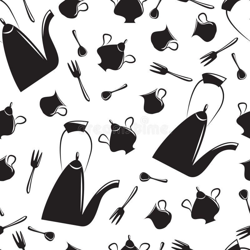 teste padrão Chá-sem emenda ilustração stock