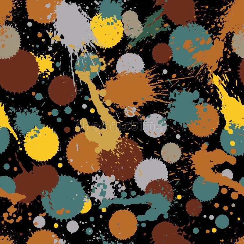 Teste padrão chapinhado colorido da repetição do design web, gota da tinta da arte, mes ilustração royalty free