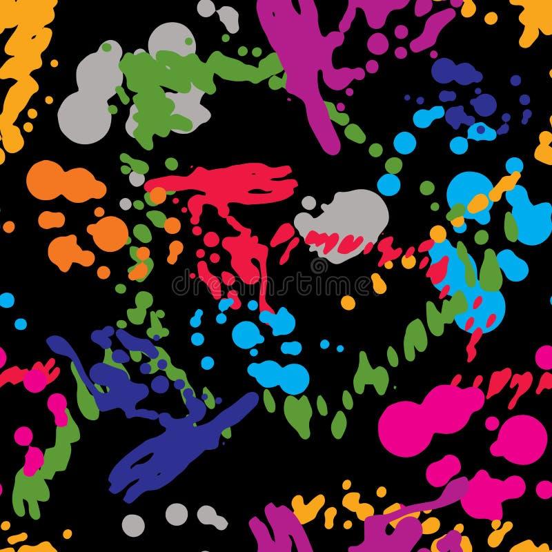 Teste padrão chapinhado colorido da repetição do design web, gota da tinta da arte, sme ilustração royalty free