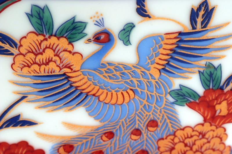 Download Teste padrão chinês foto de stock. Imagem de cerâmica, pássaro - 56044