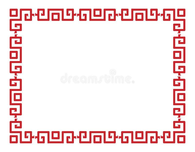 Teste padrão chinês ilustração royalty free