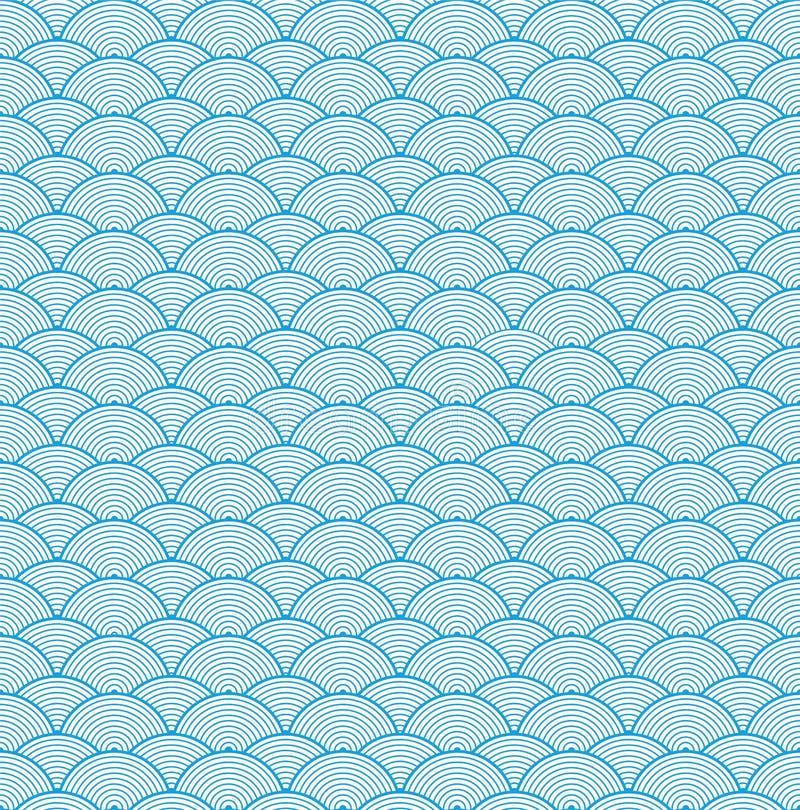 Teste padrão chinês da nuvem do vetor ilustração royalty free