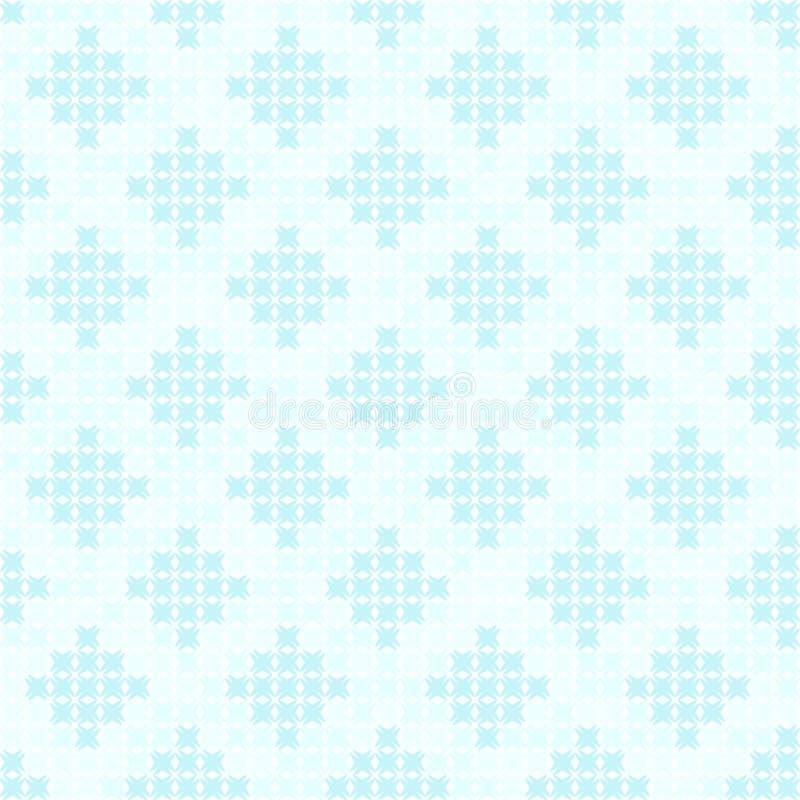 Teste padrão ciano do diamante Vetor sem emenda ilustração stock