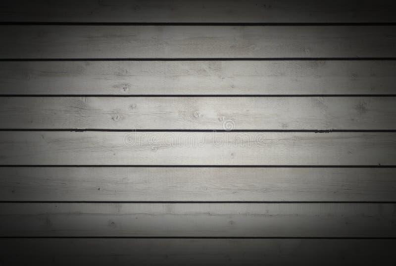 Teste padrão cinzento de madeira natural da textura de madeira cinzenta horizontal do fundo das pranchas foto de stock