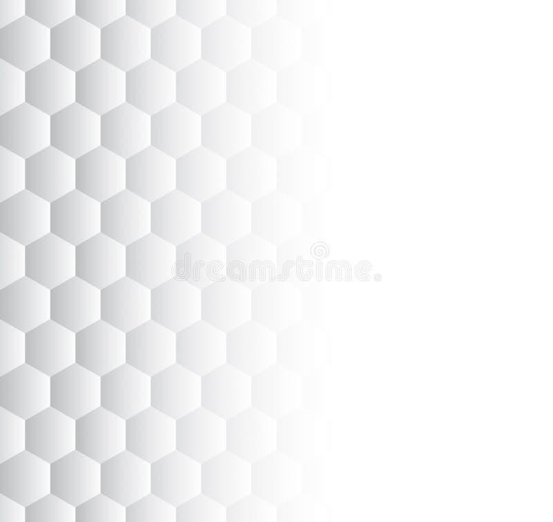 Teste padrão cinzento e branco abstrato para o fundo ilustração do vetor