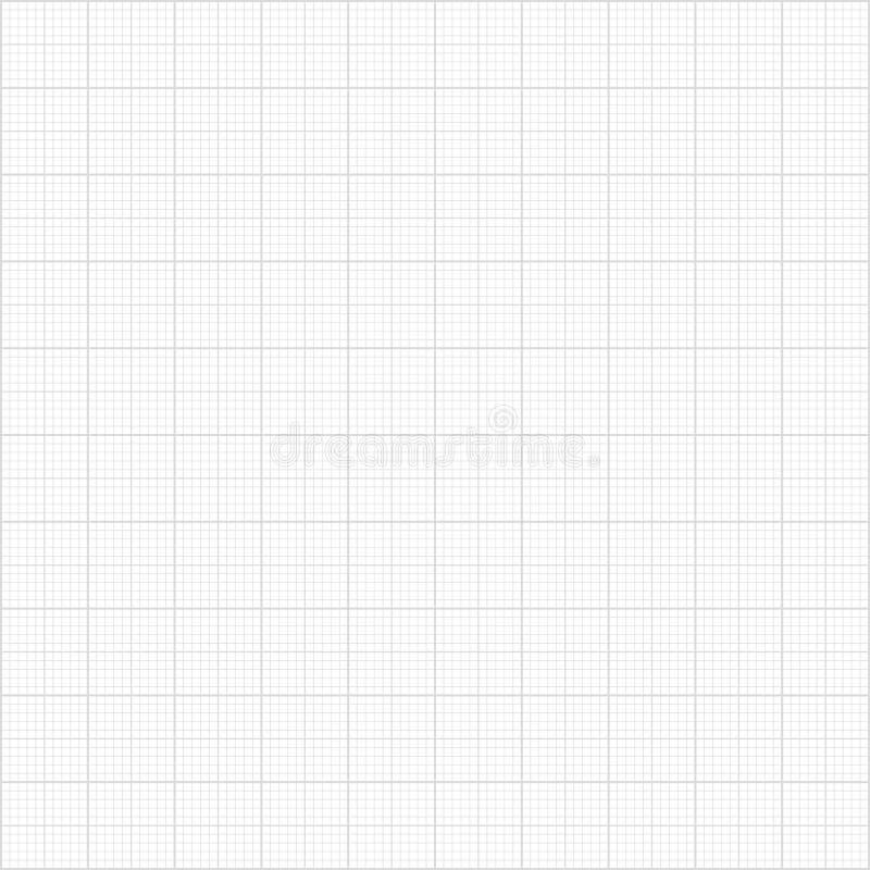 Teste padrão cinzento sem emenda do papel do milímetro ilustração do vetor