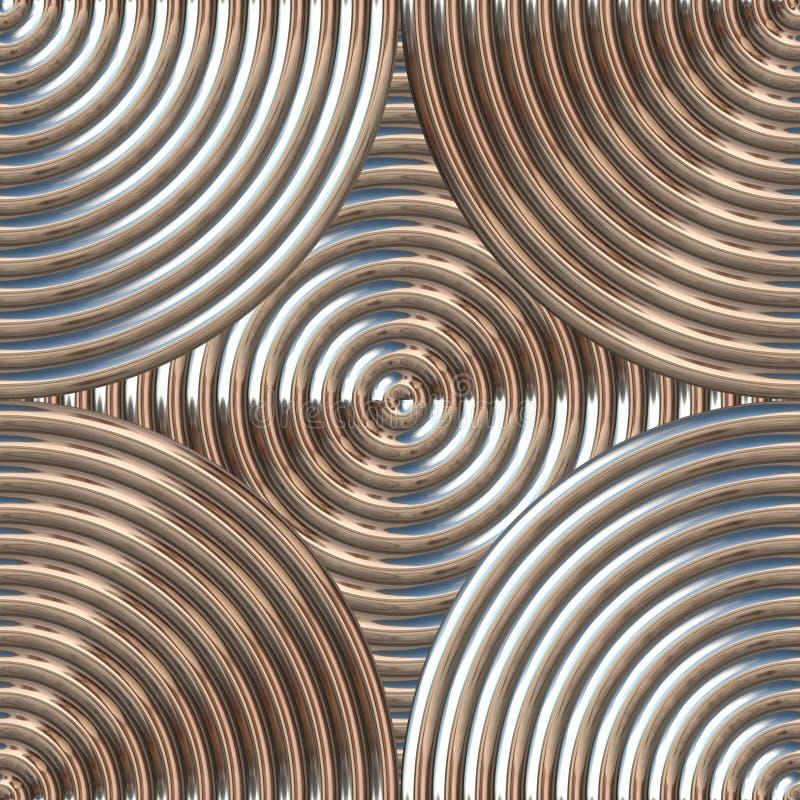 Teste padrão circular do metal ilustração stock