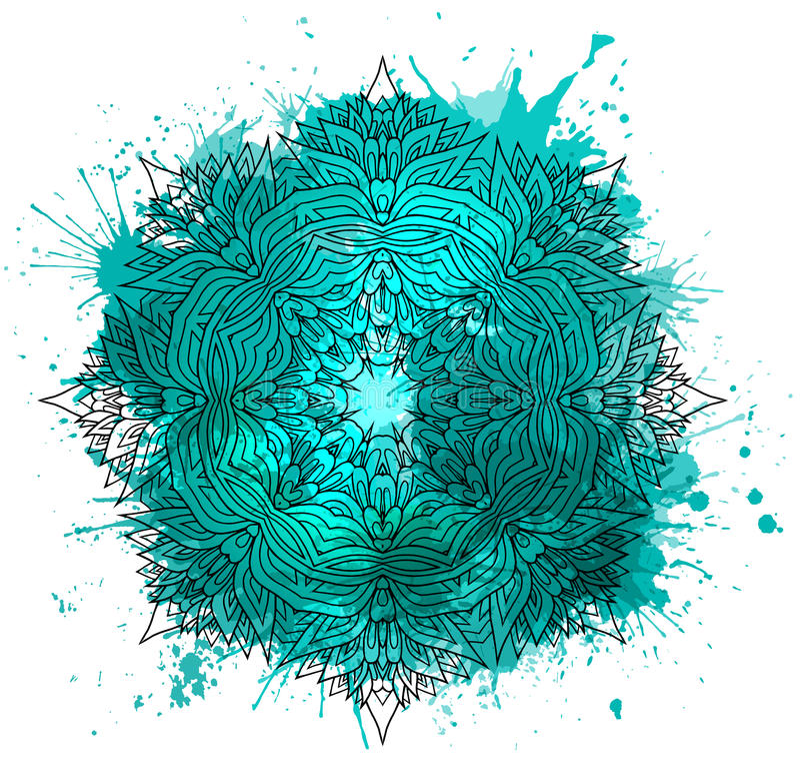Teste padrão circular do teste padrão tirado mão do boho ilustração royalty free