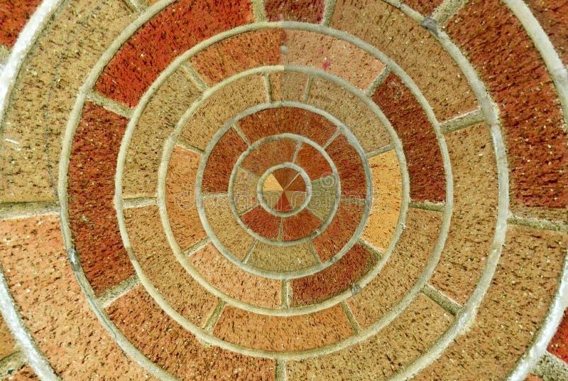 Teste padrão circular do tijolo imagens de stock