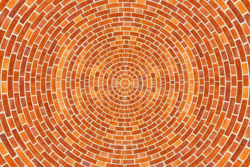 Teste padrão circular do tijolo foto de stock