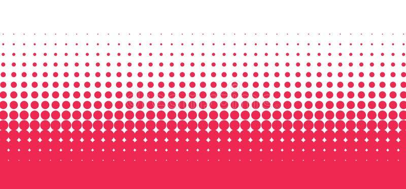 Teste padrão circular vermelho ilustração do vetor