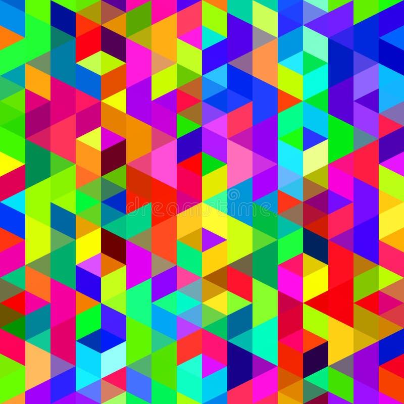 Teste padrão colorido abstrato ilustração stock