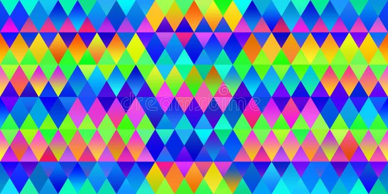 Teste padrão colorido abstrato ilustração do vetor