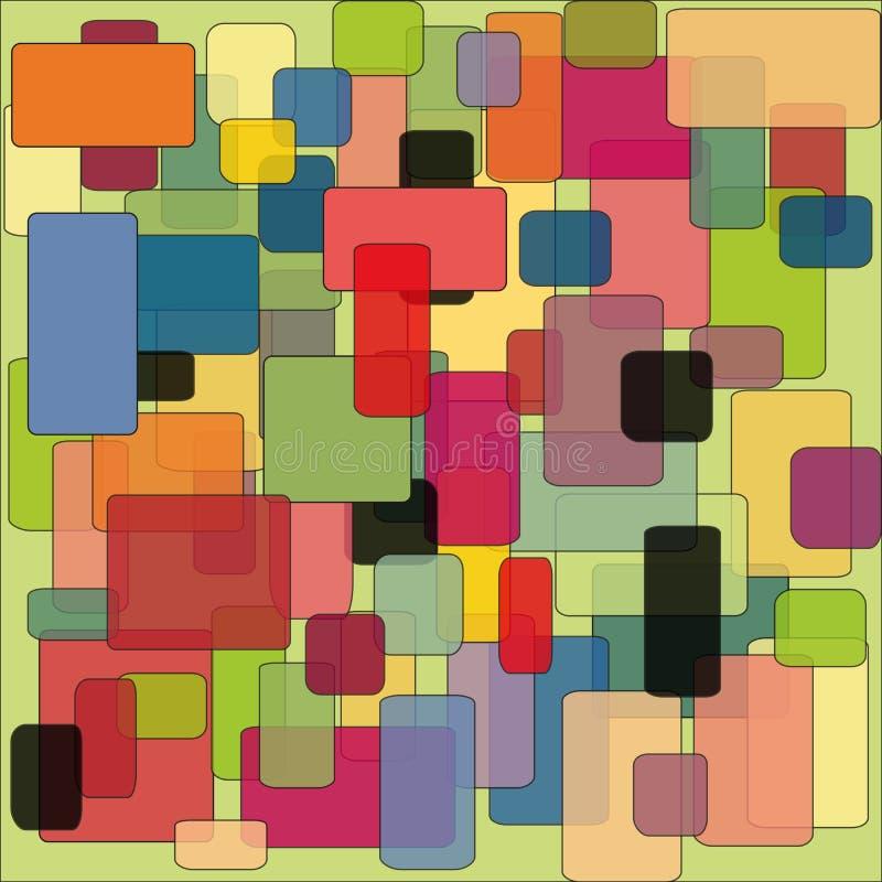 Teste padrão colorido abstrato do fundo dos quadrados fotografia de stock