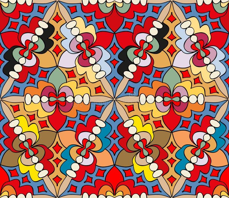 Teste padrão colorido abstrato sem emenda 2 ilustração do vetor