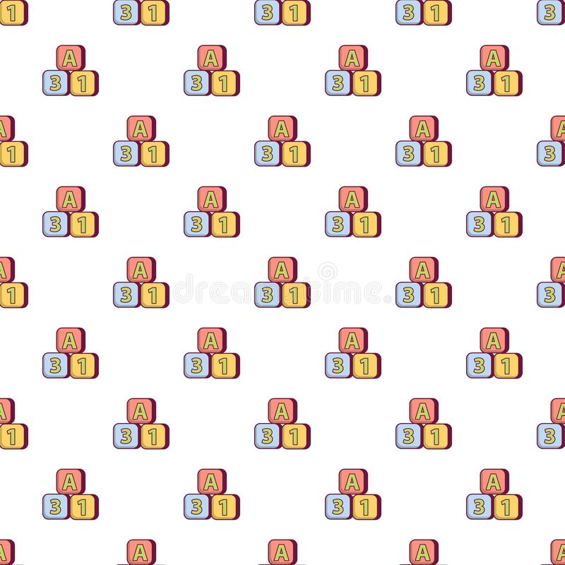 Teste padrão colorido brilhante dos tijolos sem emenda ilustração do vetor