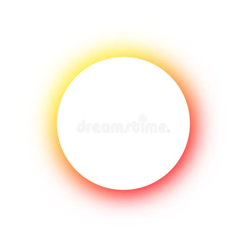 Teste padrão colorido brilhante em volta das cores diferentes de incandescência dos botões de néon, o espaço para o texto Projeto imagens de stock