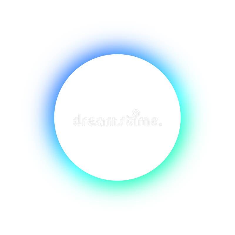Teste padrão colorido brilhante em volta das cores diferentes de incandescência dos botões de néon, o espaço para o texto Projeto fotos de stock royalty free