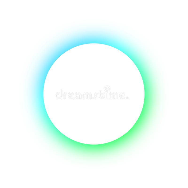 Teste padrão colorido brilhante em volta das cores diferentes de incandescência dos botões de néon, o espaço para o texto Projeto fotografia de stock