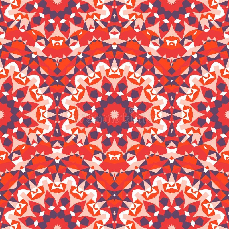 Teste padrão colorido chique de Boho ilustração stock