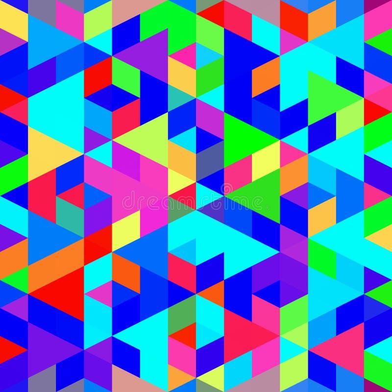 Teste padrão colorido da caixa ilustração do vetor