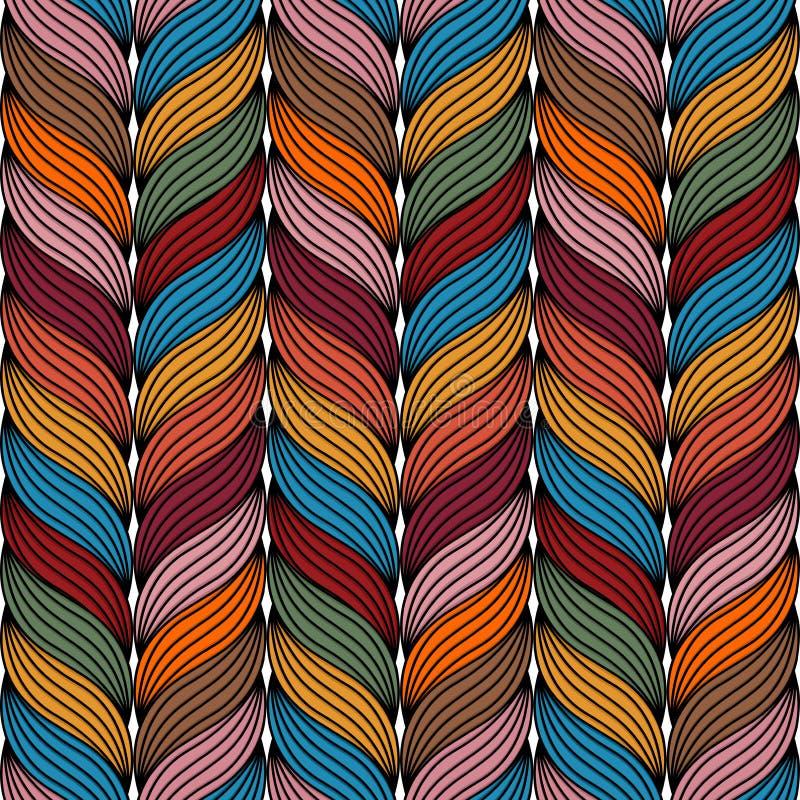 Teste padrão colorido da corda ilustração do vetor