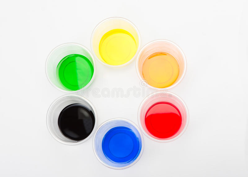 Teste padrão colorido da pintura fotos de stock