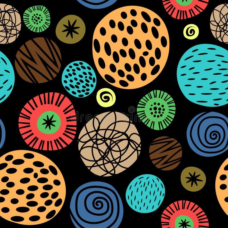 Teste padrão colorido das crianças com pontos ilustração stock