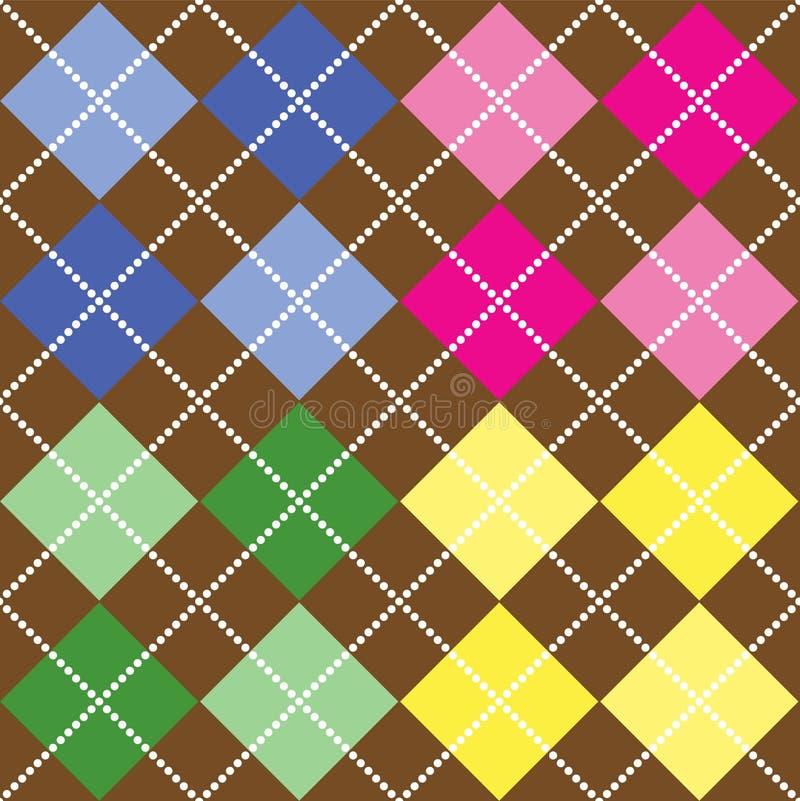 Teste padrão colorido de Argyle ilustração stock