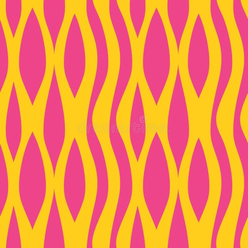Teste padrão colorido de fluxo da onda Ilustração na moda sem emenda do vetor do fundo das cores do moderno pronta para a cópia d ilustração do vetor