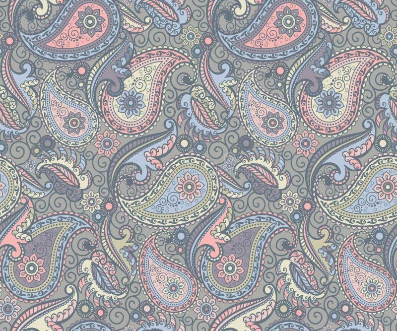 Teste padrão colorido de paisley ilustração royalty free