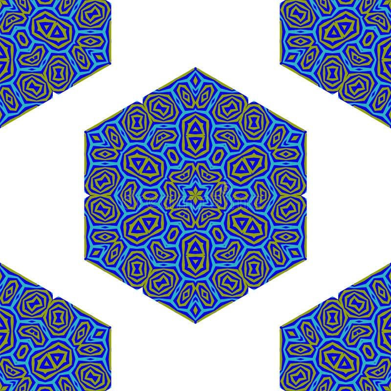 Teste padrão colorido decorativo criativo sem emenda ilustração stock