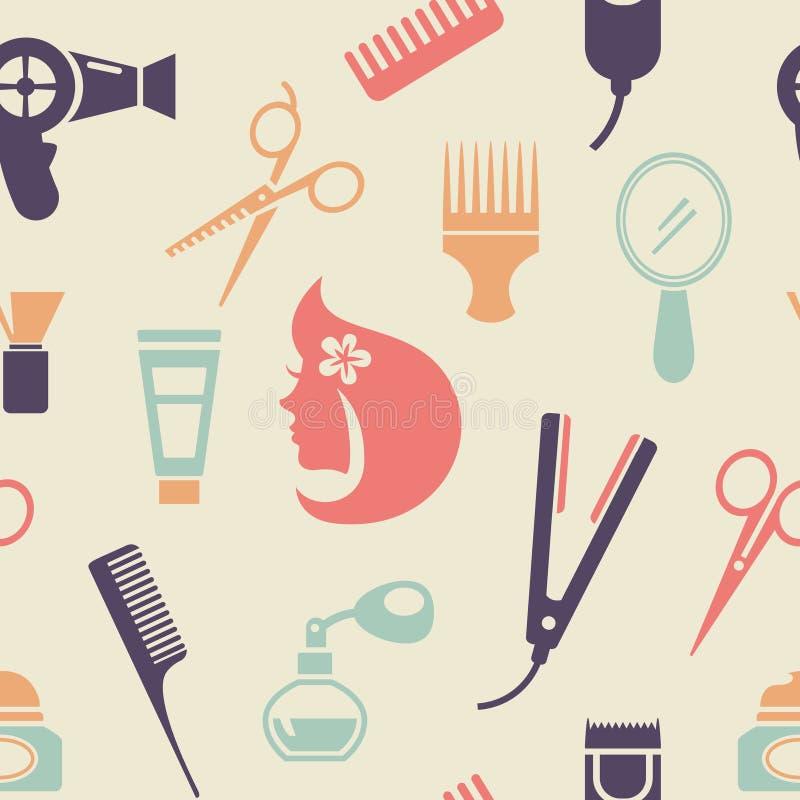 Teste padrão colorido do barbeiro ilustração royalty free