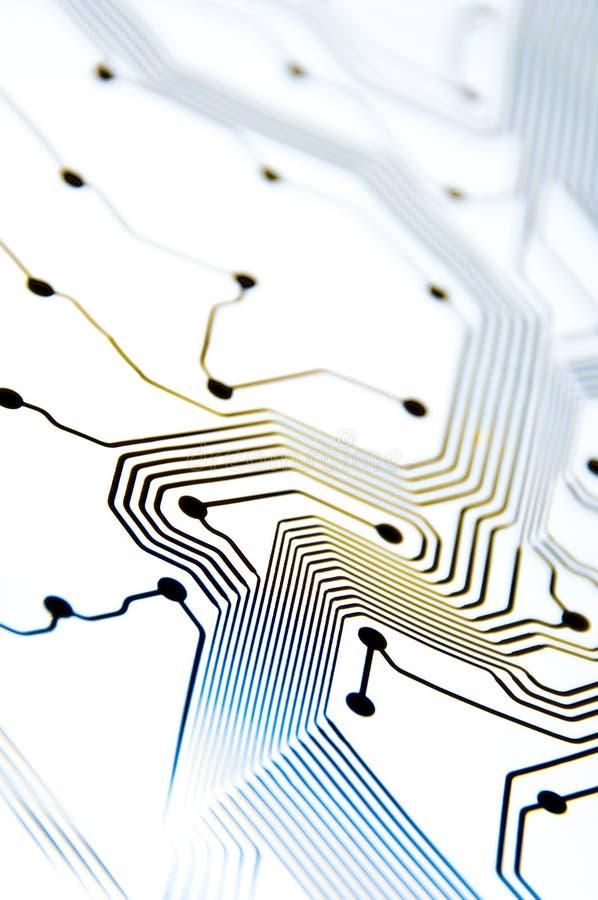 Teste padrão colorido do circuito da olá!-chave; conceito da tecnologia imagens de stock royalty free